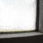 Eis und Frost an der Tür