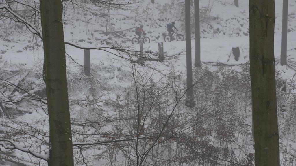 Die ersten Meter im Neuschnee